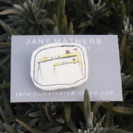 Jane Mathers Harland & Wolff Embroidered Brooch